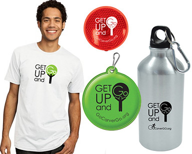Get Up & Go promo items