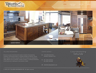 Telluride Woodworks website