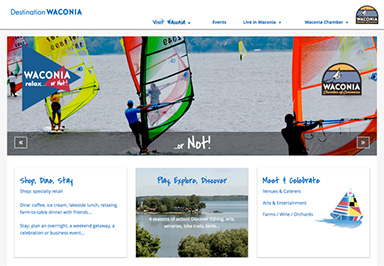 Destination Waconia website